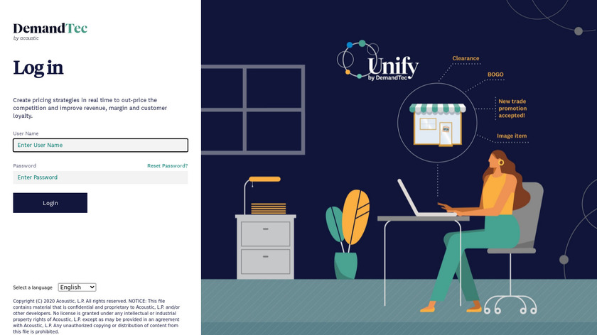 DemandTec Landing Page