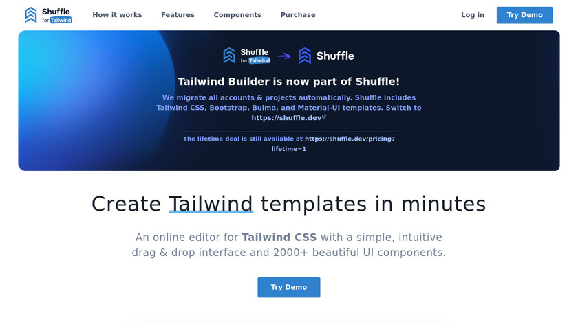 Tailwind Builder Landing Page