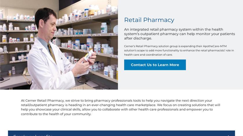 Cerner Retail Pharmacy Landing Page