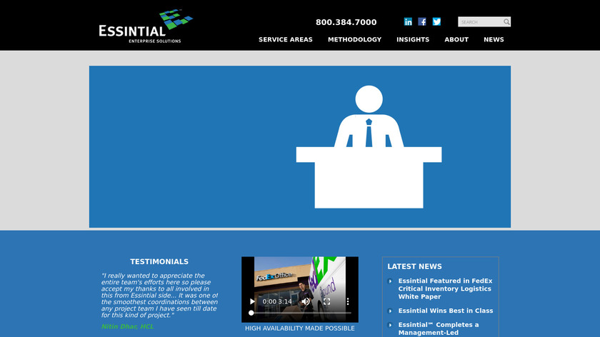 Essintial Landing Page