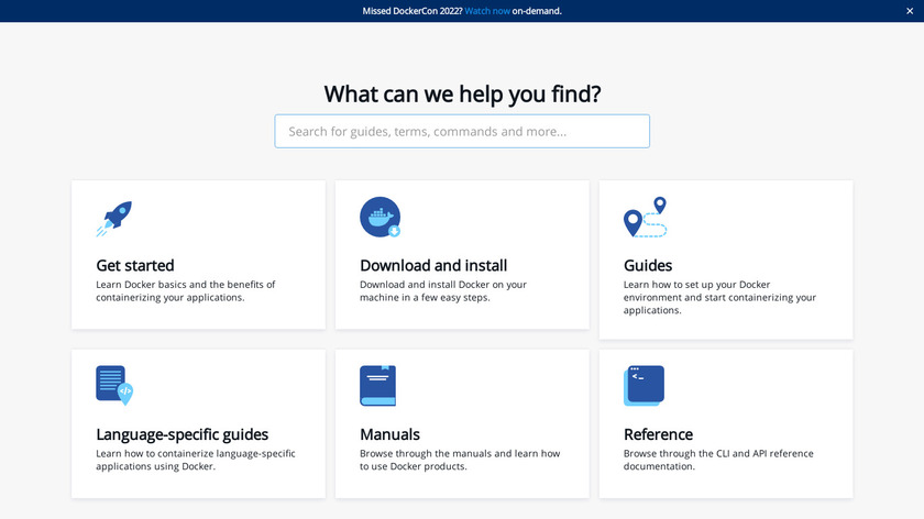 Docker for AWS Landing Page