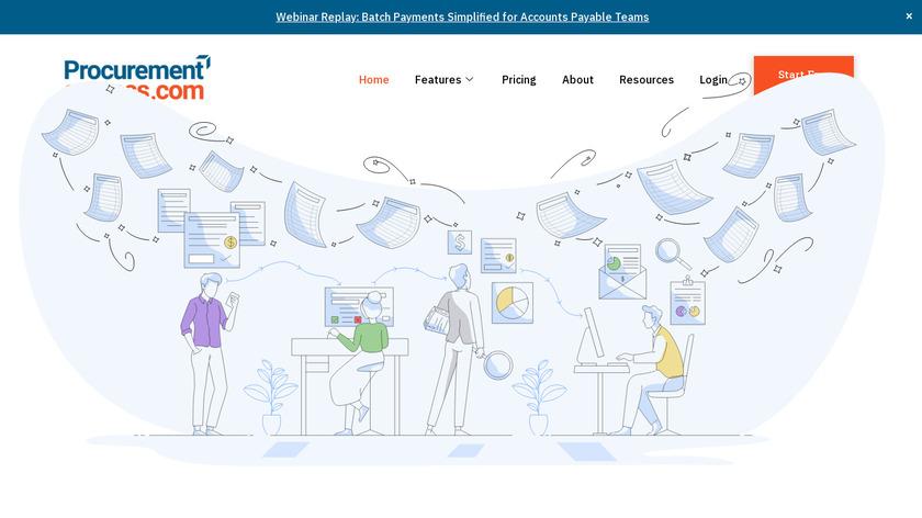 ProcurementExpress.com Landing Page