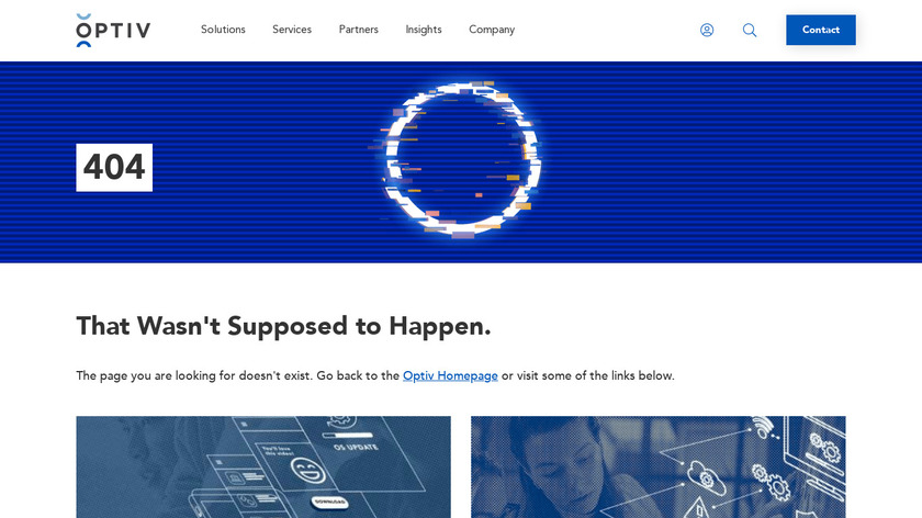 Optiv Security Intelligence Landing Page