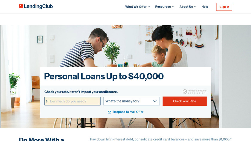 Lending Club Landing Page