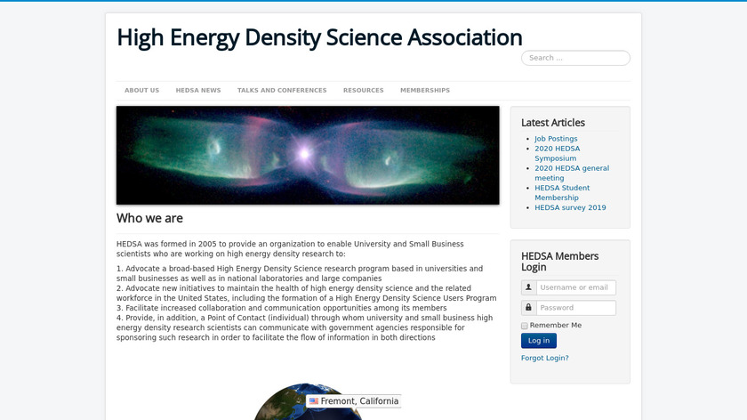 HEDSA Landing Page