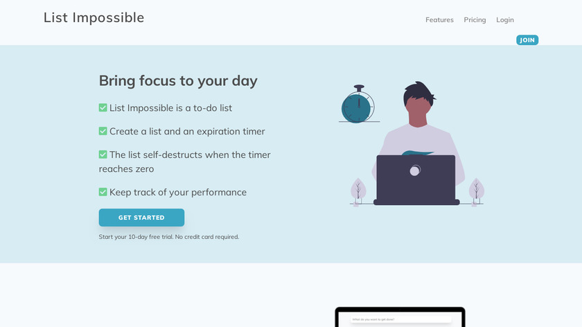 List Impossible Landing Page