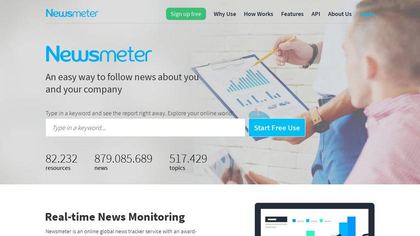 Newsmeter Landing Page