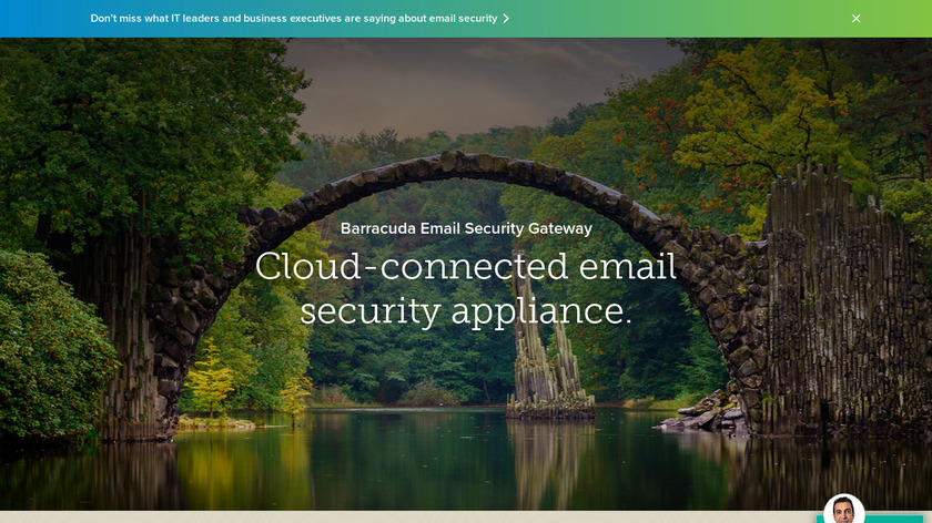 Barracuda Email Security Gateway Landing Page