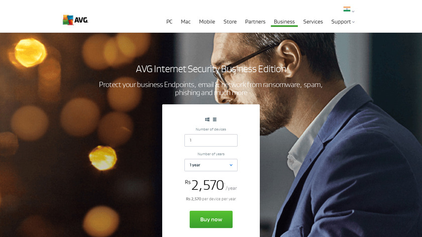 AVG Internet Security Business Edition Landing Page