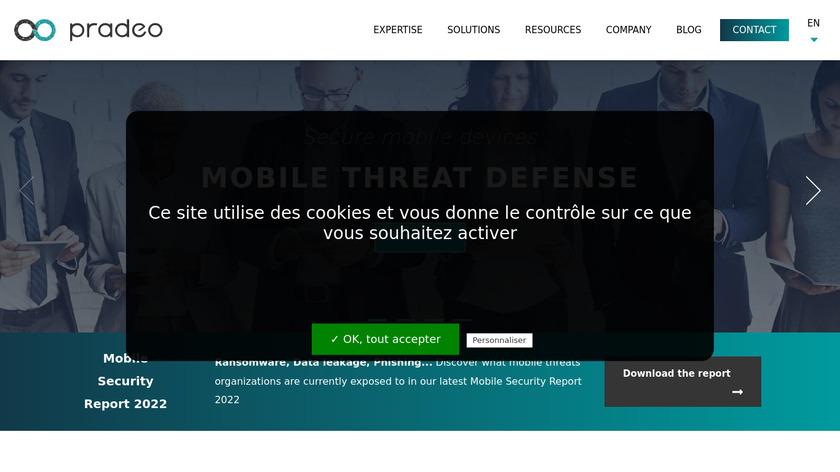 Pradeo Security Landing Page