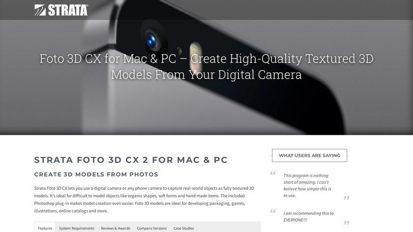 Strata Foto 3D CX Landing Page