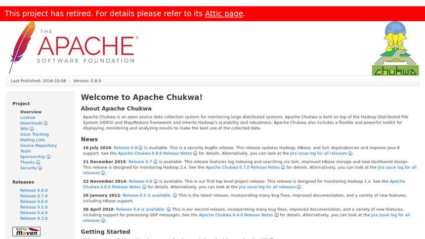 Apache Chukwa Landing Page