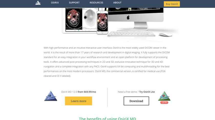 OsiriX MD Landing Page