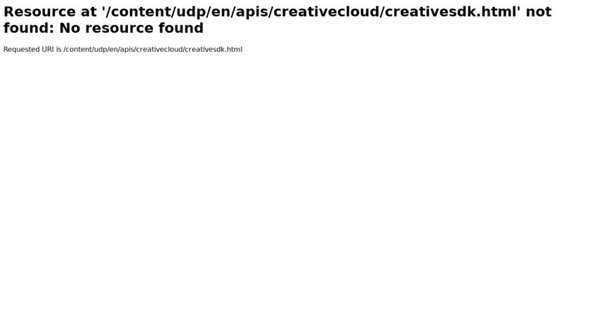 Adobe Creative SDK Landing Page