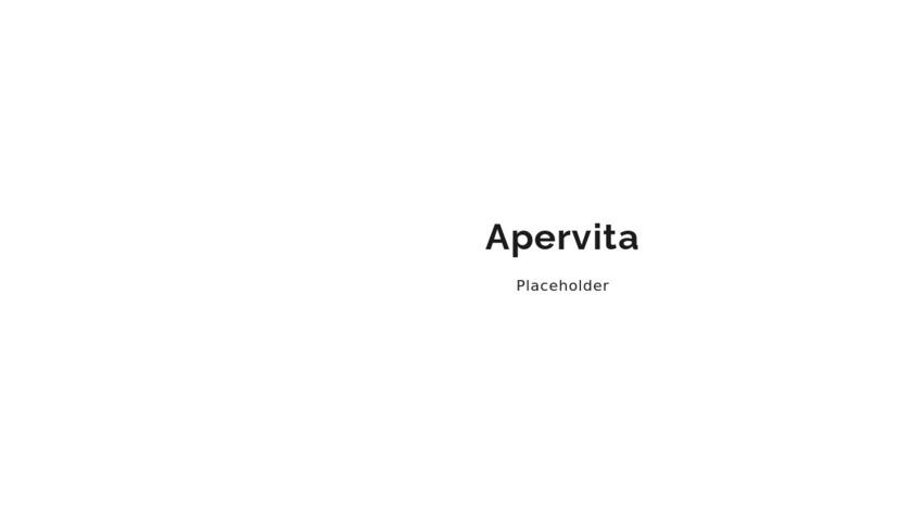Apervita Landing Page
