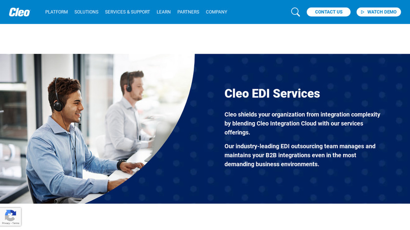 Cleo Managed Services Landing Page