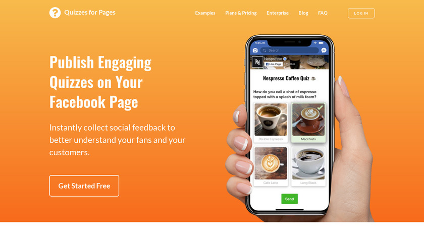 Quizzes for Pages Landing Page