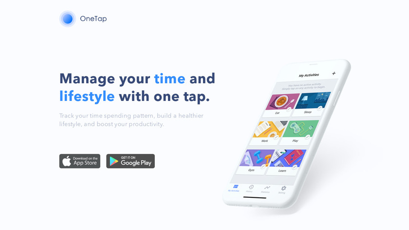 Onetap Time Tracking App Landing Page