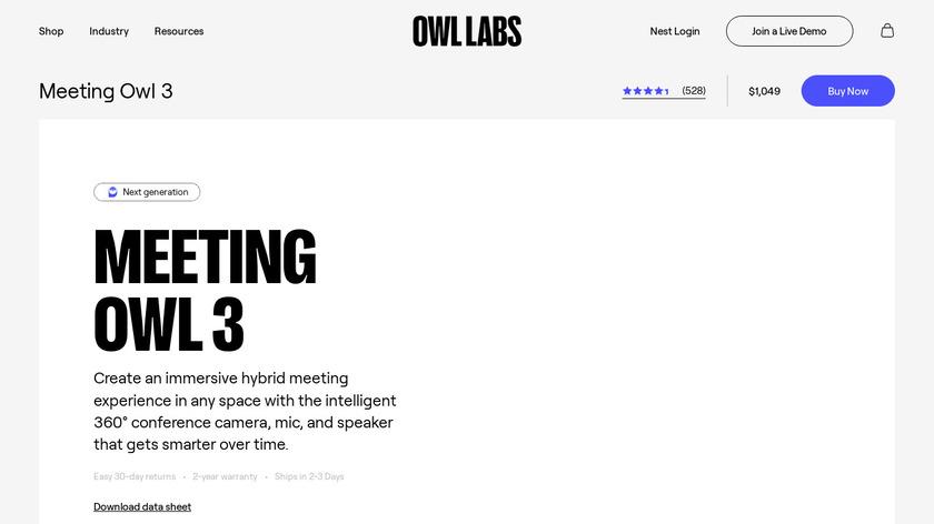 Meeting Owl Pro Landing Page