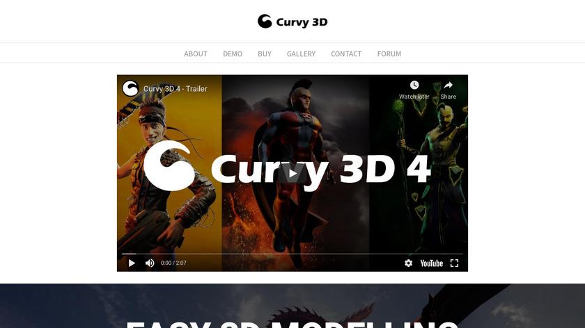 Aartform Curvy 3D Landing Page