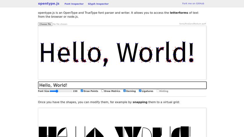 Opentype.js Landing Page