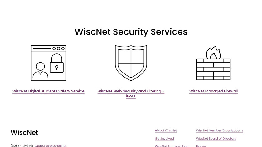 WiscNet Security Services Landing Page