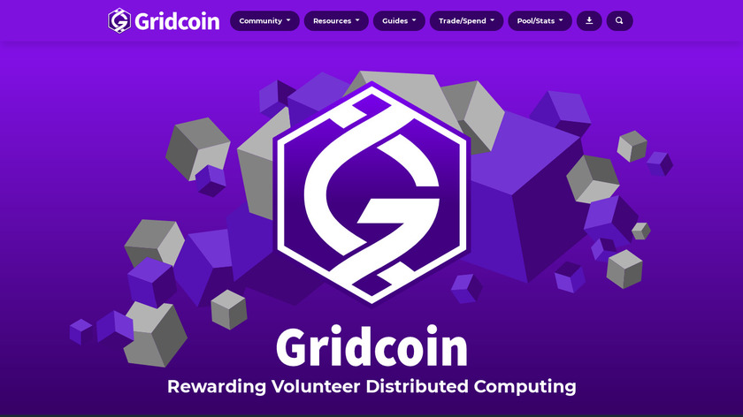 Gridcoin Landing Page