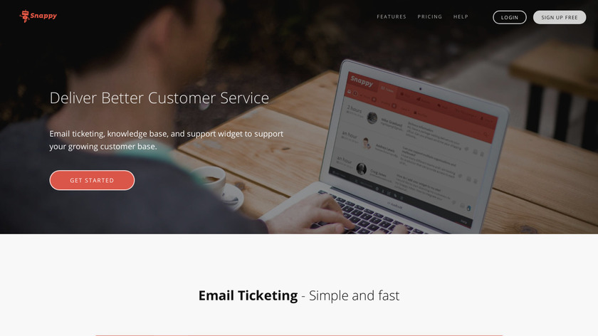 Snappy Helpdesk Landing Page