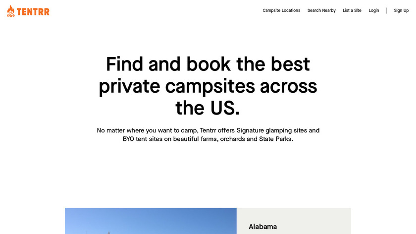 Tentrr Landing Page