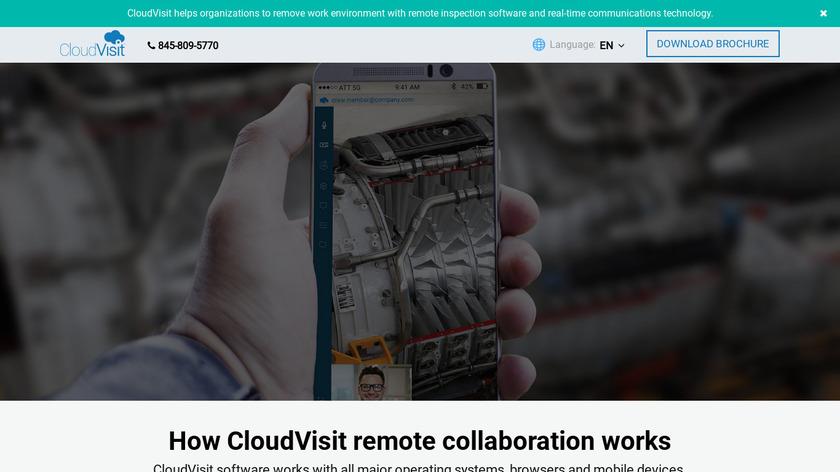 CloudVisit Landing Page
