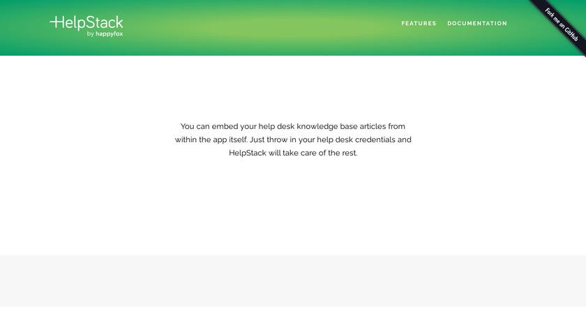 HelpStack Landing Page