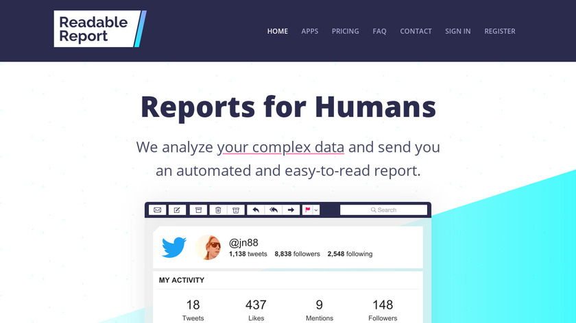 Readable Report Landing Page