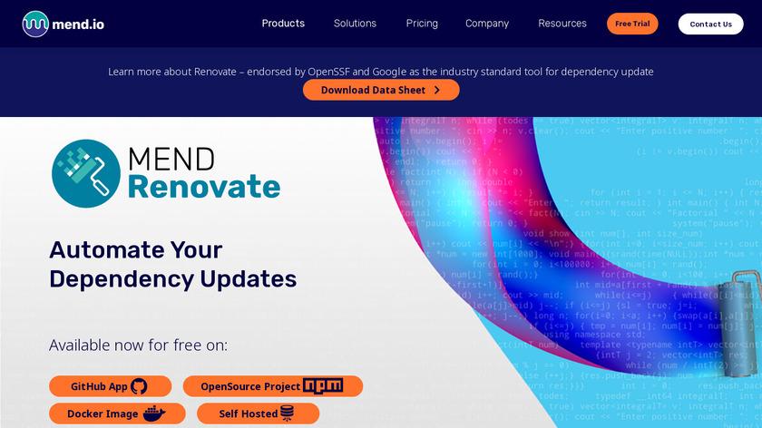 WhiteSource Renovate Landing Page