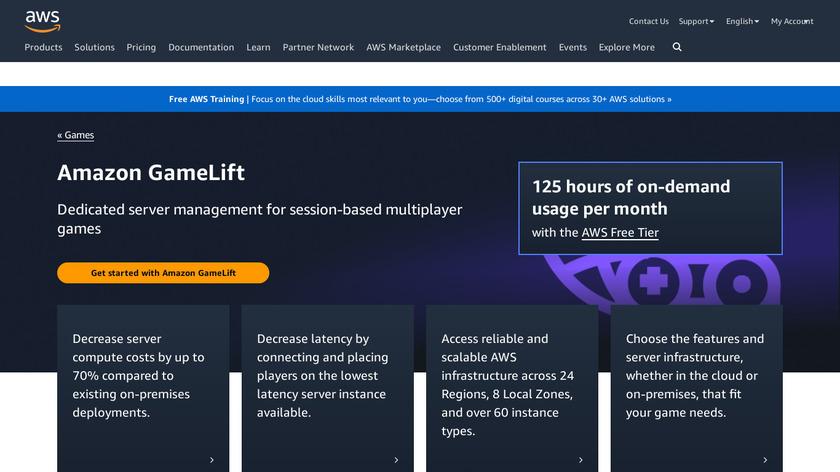 Amazon GameLift Landing Page