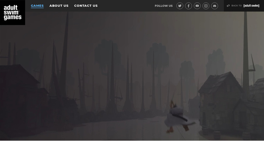 Robot Unicorn Attack Landing Page