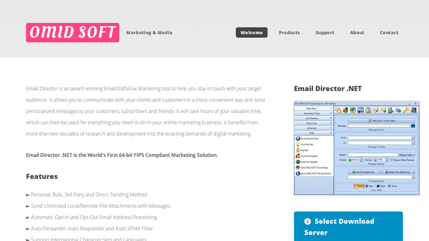 Email Director .NET Landing Page