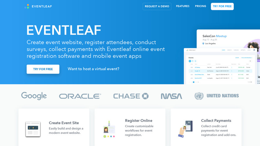 Eventleaf Landing Page