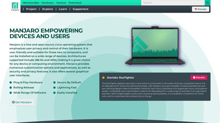 Manjaro Linux Landing Page