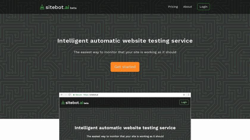 sitebot.ai Landing Page