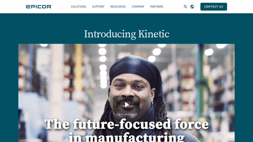 Epicor ERP Landing Page