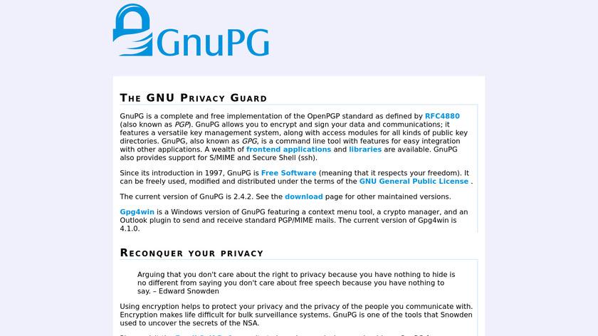 GnuPG Landing Page