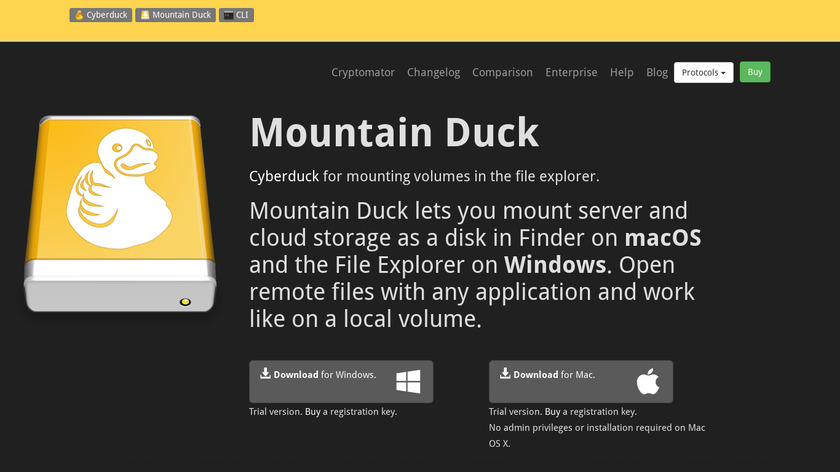 Mountain Duck Landing Page