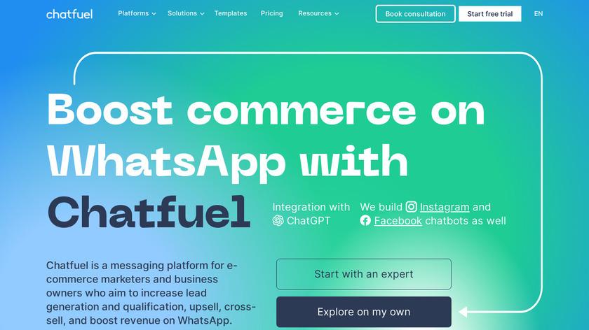 Chatfuel Landing Page