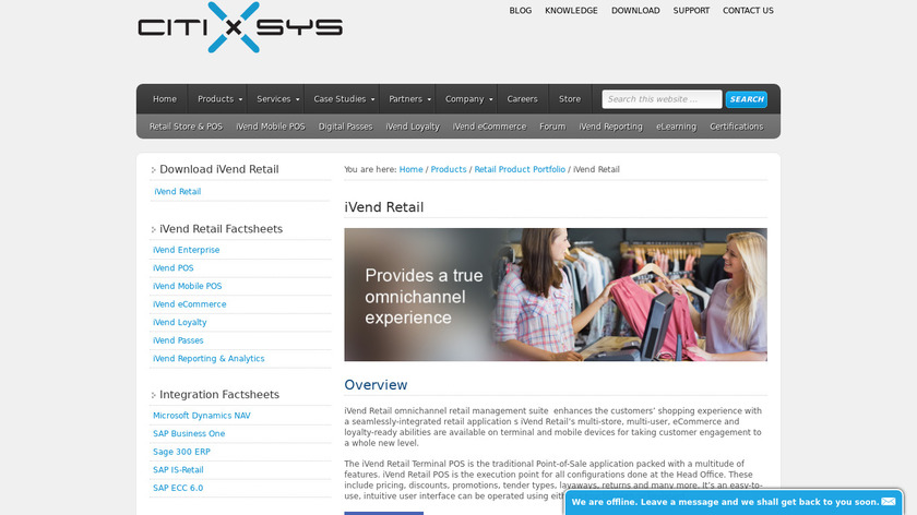 iVend Retail Landing Page