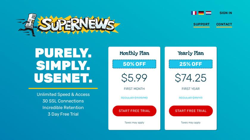 Usenet.net Landing Page