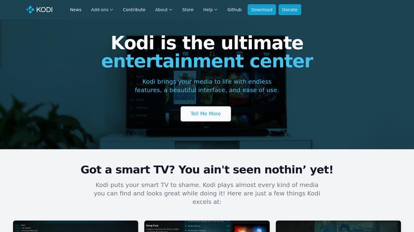 kodi.tv Kodi Landing Page