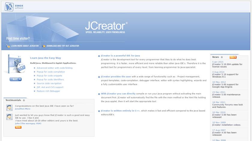 JCreator Landing Page