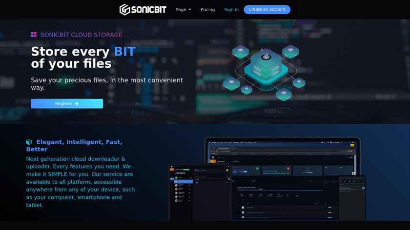Sonic SeedBox Landing Page