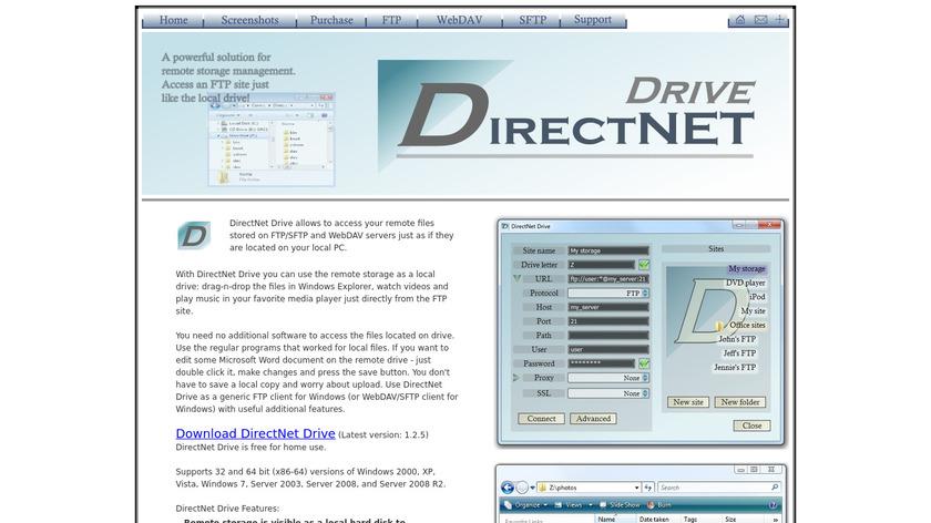 DirectNet Drive Landing Page