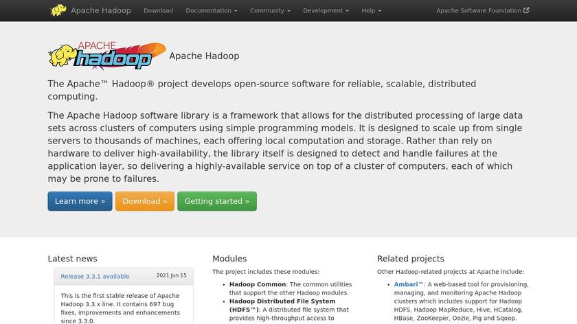 Hadoop Landing Page
